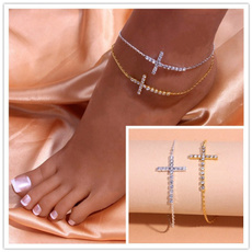 18k gold, Anklets, gold, Elegant