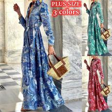 dressesforwomen, Print Dresses, Cocktail, Long Sleeve