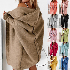 Plus Size, hooded, Winter, fleecejacket