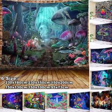 Wall Art, Home Decor, Mushroom, wallcloth