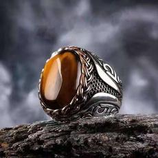 Fashion, 925 silver rings, punk rings, Tiger