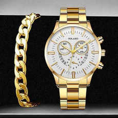 Charm Bracelet, Fashion, business watch, Stainless Steel