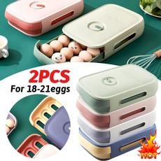 Box, eggpreservationbox, Refrigerator, compartmentstorage