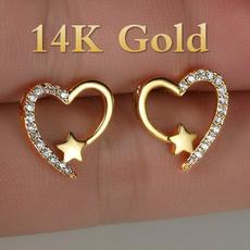 yellow gold, Heart, DIAMOND, Love