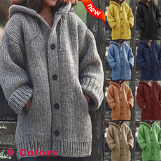 Casual Jackets, hooded sweater, hooded, womens coats