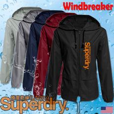 womenwindbreaker, Casual Jackets, Plus Size, raincoat