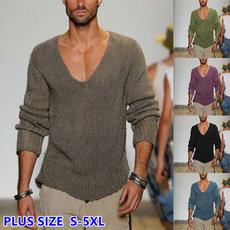 Plus Size, Sleeve, loose top, Long Sleeve
