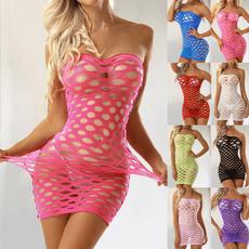Mini, nightwear, Fish Net, Dress
