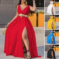 sleeveless, dressesforwomen, Sexy Dress, Necks