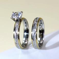 Couple Rings, Heart, Fashion, Love
