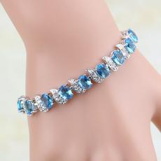 Charm Bracelet, Crystal Bracelet, Fashion, Sterling