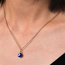 blueeyenecklace, clavicle  chain, eye, luckynecklace