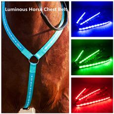 horse, horseriding, led, horsecheststrap
