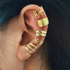 golden, Fashion, leaf, Jewelry