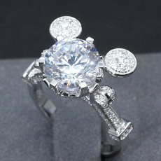 Mickey Mouse, Sterling, DIAMOND, 925 sterling silver