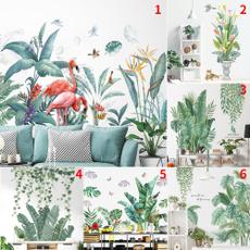 leaves, Plants, flamingowallsticker, tropicalplantwallsticker