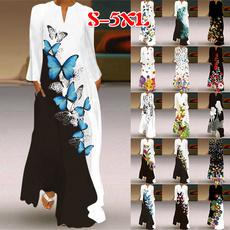 butterfly, dressforwomen, Plus Size, vestidoslongo