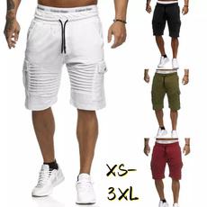 Summer, elastic waist, pants, Pleated