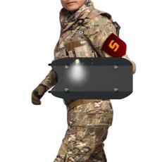 Flashlight, riotshield, led, shield