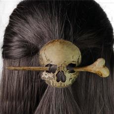 fashionhairpin, Cosplay, Pins, skull