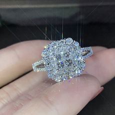 Sterling, fashion women, Engagement, wedding ring