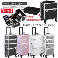 3in1cosmeticorganizer, Box, trolleymakeupcase, Aluminum