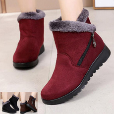 Fashion, cottonshoe, softsoleboot, Leather Boots
