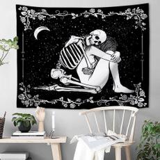 blackwhitetapestry, Dark, Goth, Skeleton