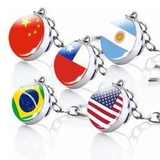 Canada, unitedstatesflag, Key Chain, Chain