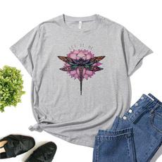 Summer, fashion women, summer t-shirts, Cotton