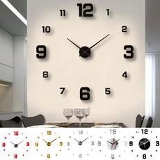 Office, 3dwallclock, Clock, Home & Living