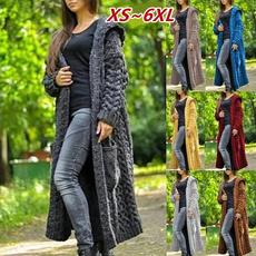 knittedsweatersforwomen, hooded sweater, sweater coat, Long Sleeve