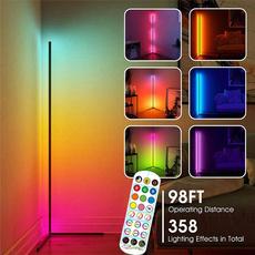 colorchanging, ledcornerfloorlamp, Remote, led