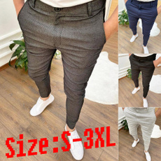 elastic waist, pants, button, slim