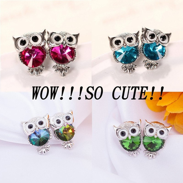 Sterling, Owl, DIAMOND, Colorful