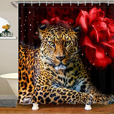 tapeteparasala, Waterproof, leopard print, showercurtainset