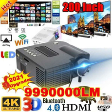 projetor4k, Mini, portableprojector, led