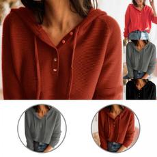 knittedblouse, knitwear, hooded, Office
