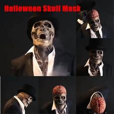 latex, skull, halloweenpartyprop, scary