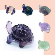 Turtle, cute, quartz, Colorful