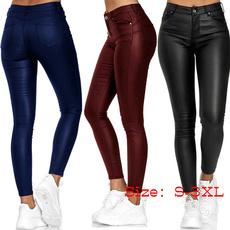 Women Pants, pencil, Leather pants, casualtrouser