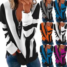 blouse, Plus Size, Floral print, Necks