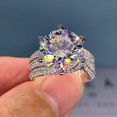 Sterling, Beautiful, DIAMOND, Engagement Ring