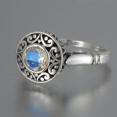 Antique, Sterling, Engagement, Engagement Ring