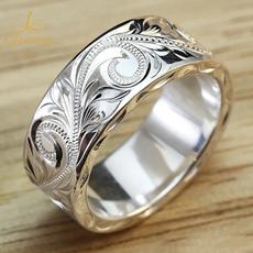 flowerringsforwomen, Flowers, carvingring, 925 silver rings