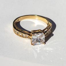 DIAMOND, Princess, gold, 18 k