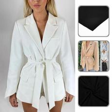 Women Blazers, suitscoat, irregularcuffsblazer, officeladyblazer