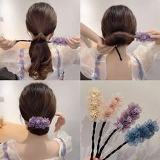 Hair Curlers, hairstyle, scrunchie, Simple