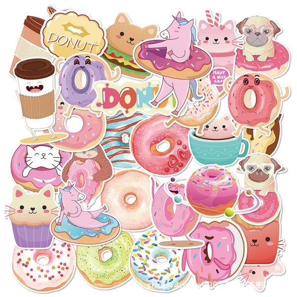 Car Sticker, suitcasesticker, donutsticker, Luggage