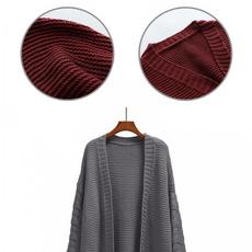 knittedcardigancoat, cardigan, Necks, Long Sleeve